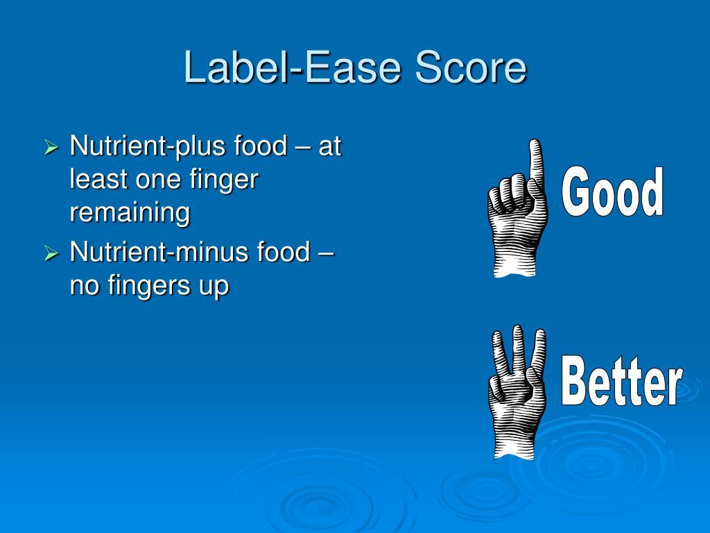 Label-Ease Score