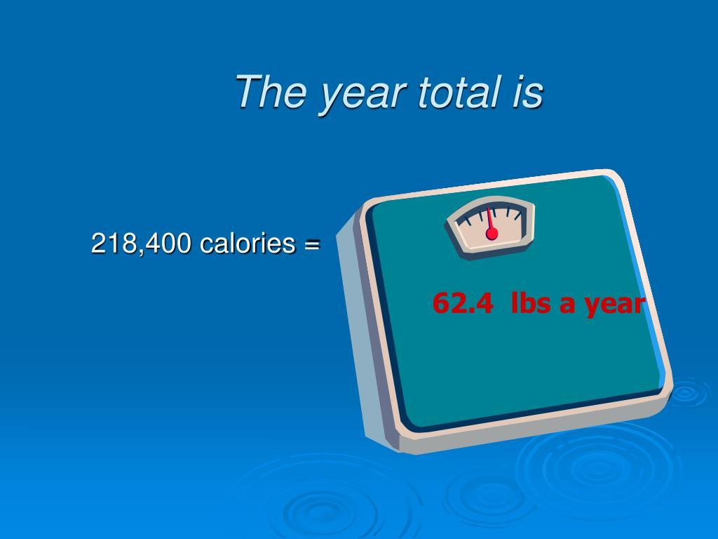 218,400 calories =