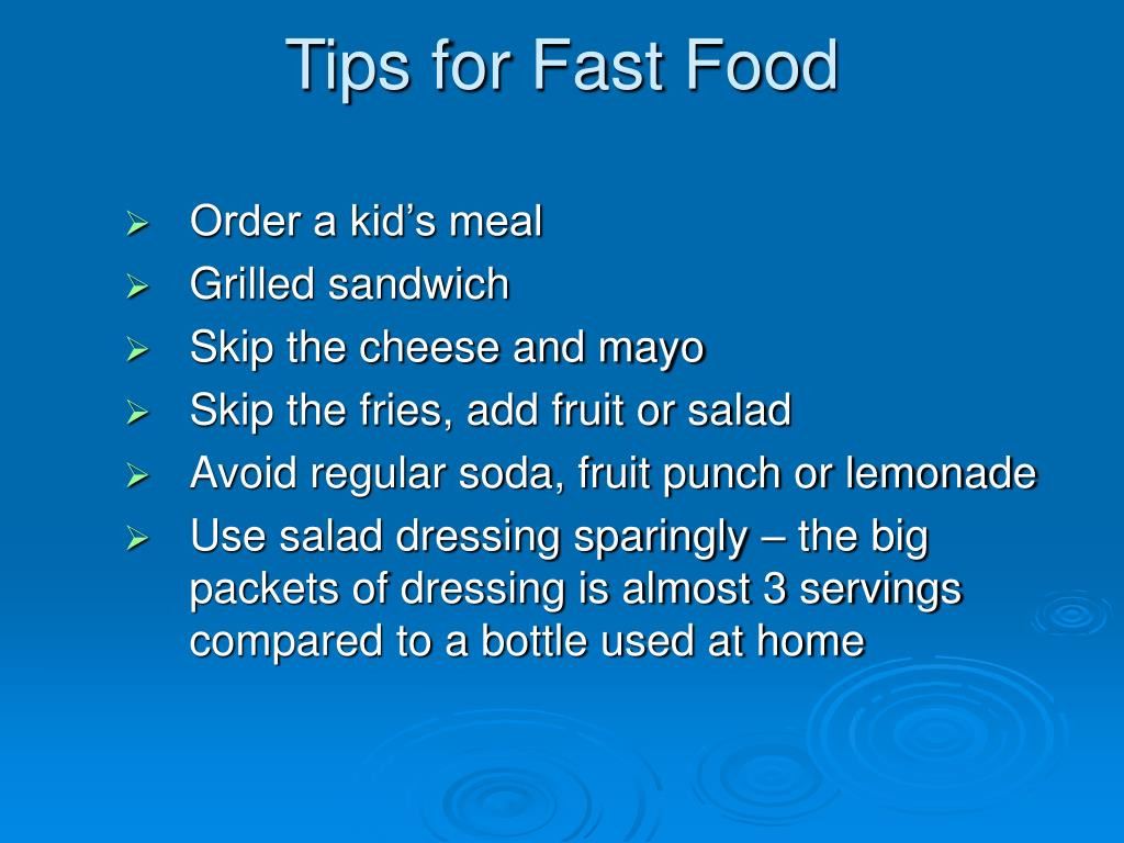 Tips for Fast Food