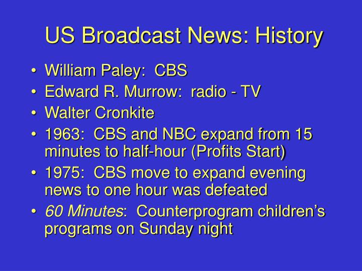 Us broadcast news history