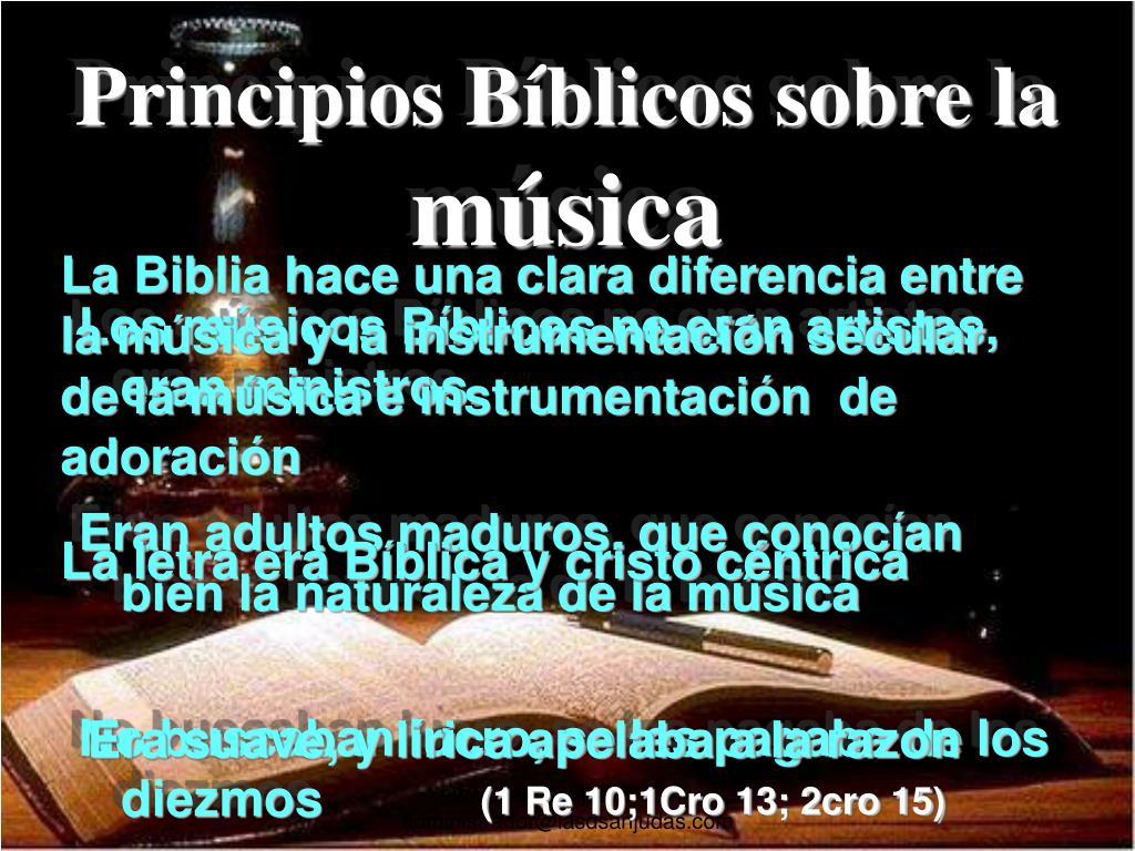 Principios Bíblicos sobre la