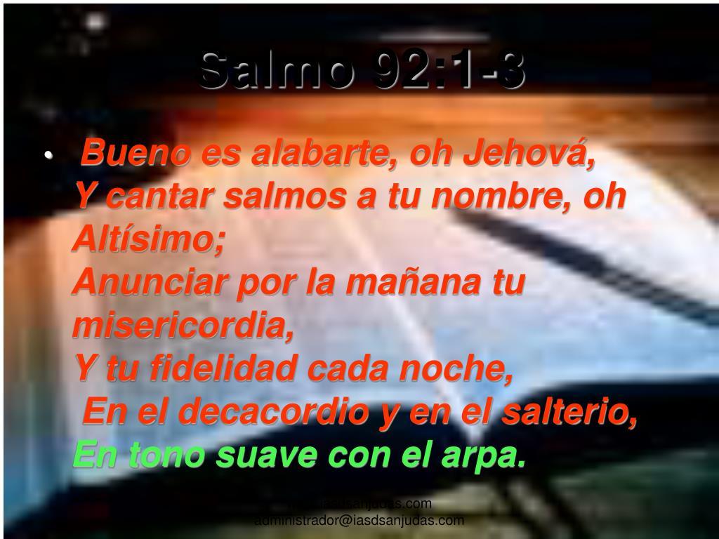 Salmo 92:1-3