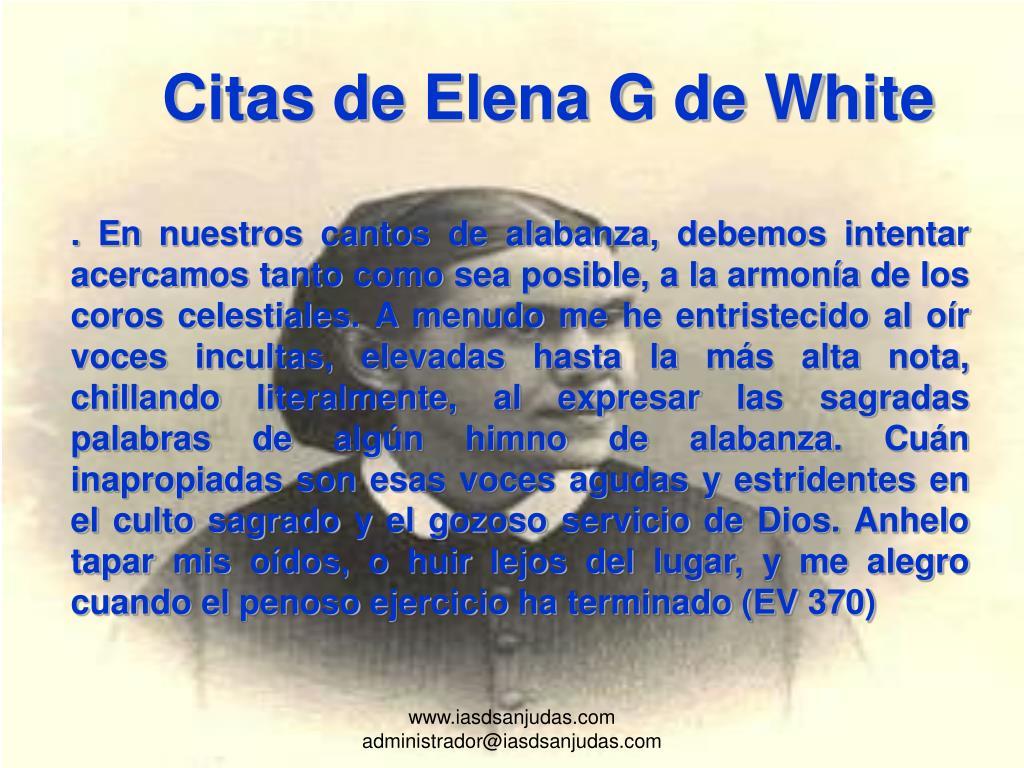 Citas de Elena G de White