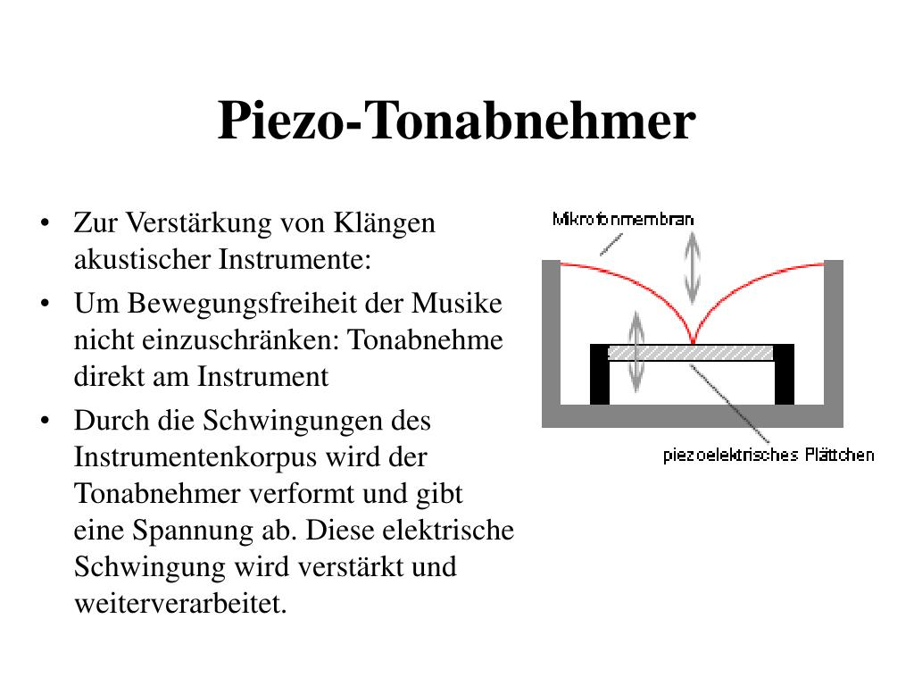 Piezo-Tonabnehmer