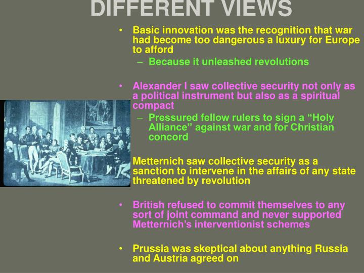 DIFFERENT VIEWS