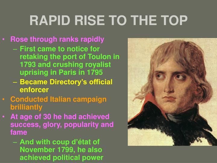 RAPID RISE TO THE TOP
