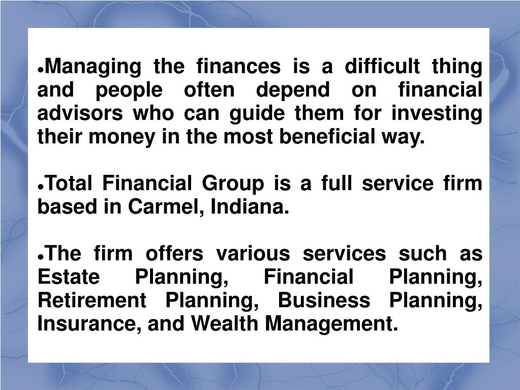 Managing the finances is a difficult thing and people often depend on financial advisors who can guide them for investing their money in the most beneficial way.