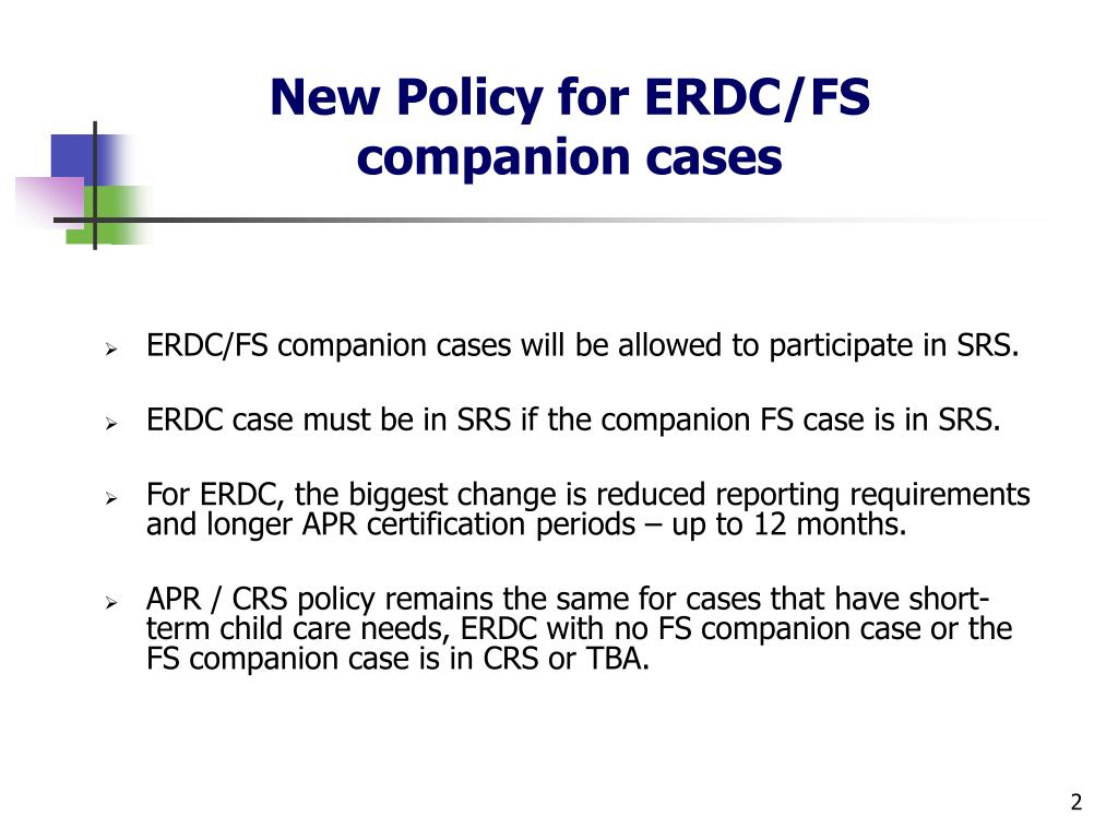 New Policy for ERDC/FS