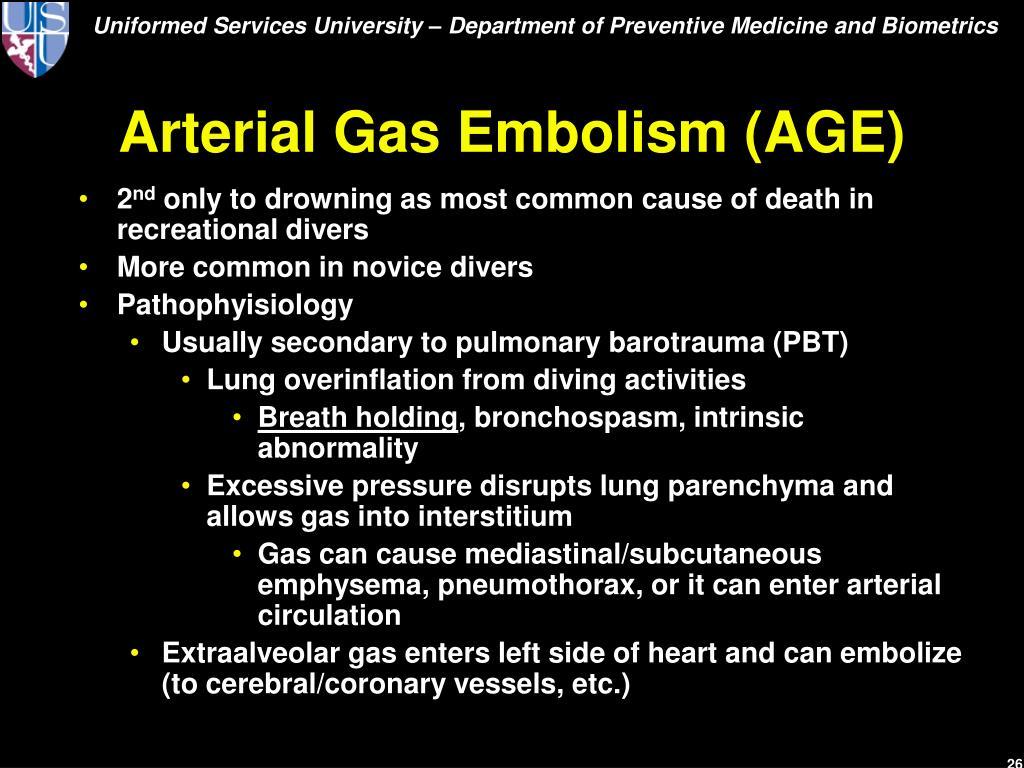 Arterial Gas Embolism (AGE)