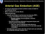 arterial gas embolism age