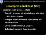 decompression illness dci