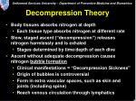 decompression theory