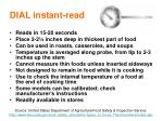 dial instant read