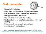 dial oven safe