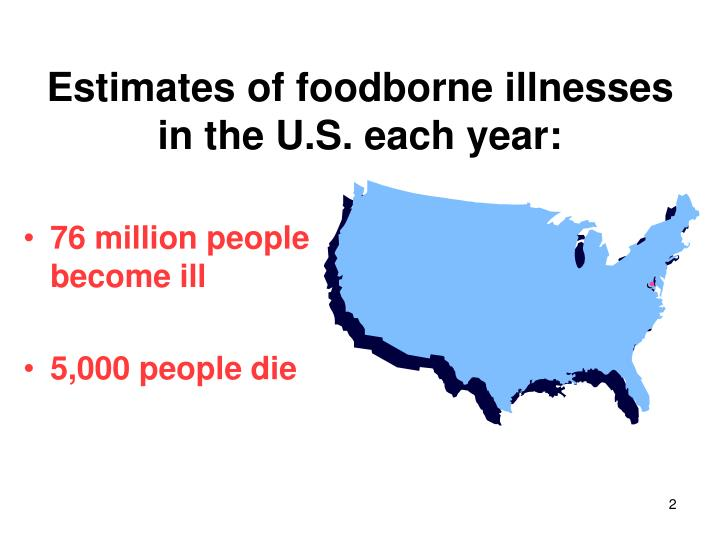 Estimates of foodborne illnesses in the u s each year