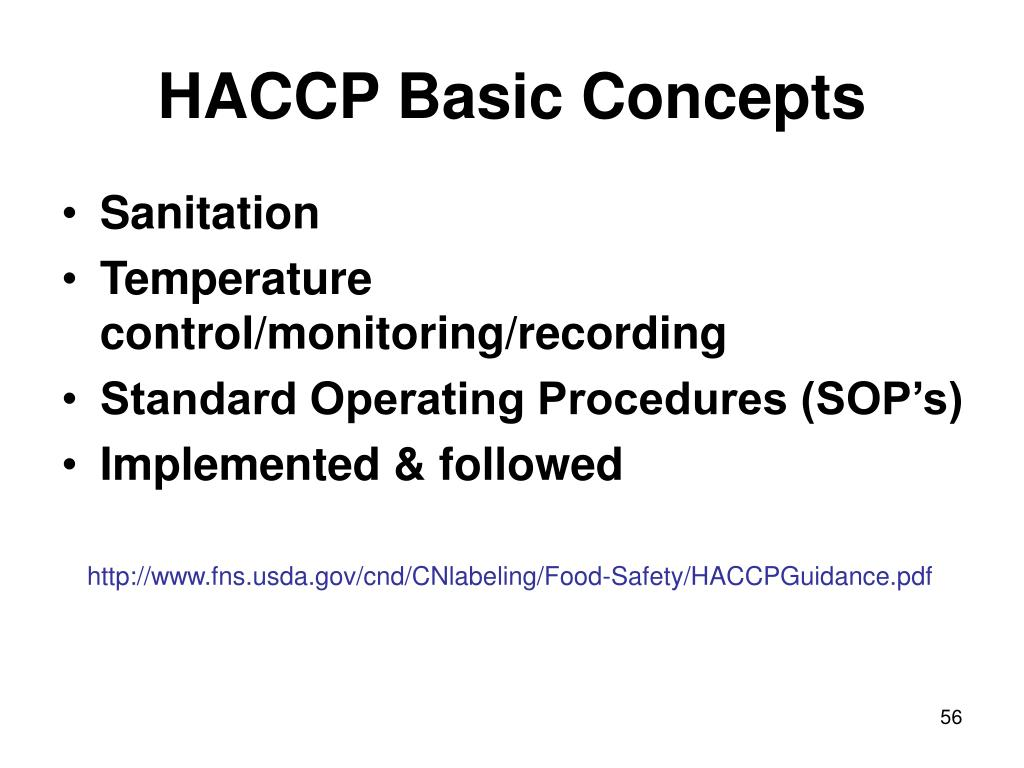 HACCP Basic Concepts