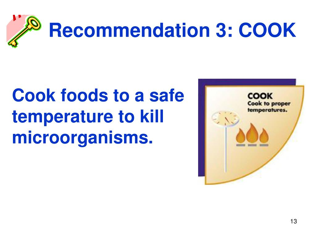 Recommendation 3: COOK