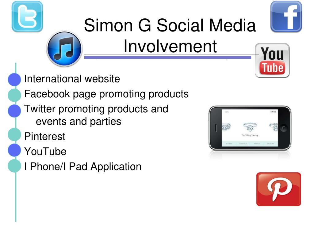 Simon G Social Media Involvement