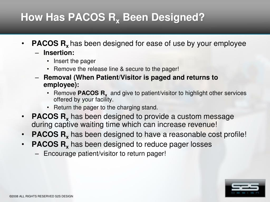 How Has PACOS R