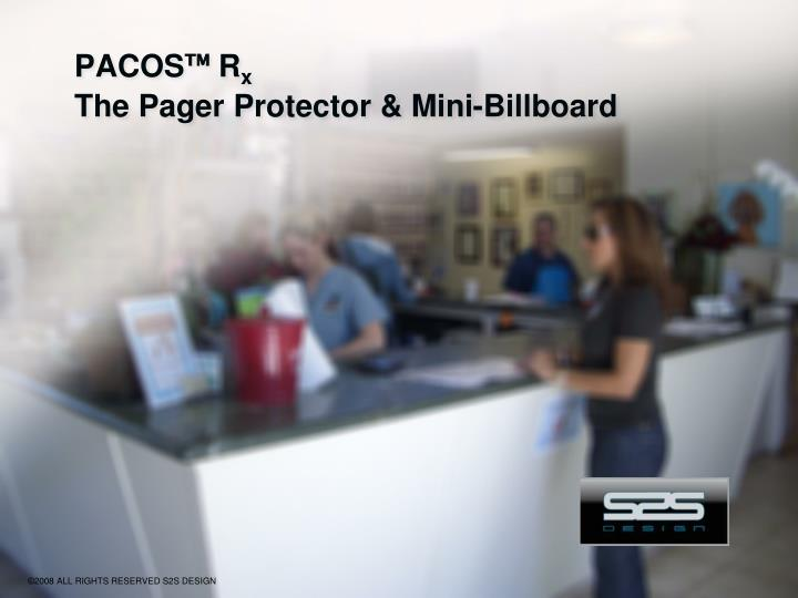 Pacos r x the pager protector mini billboard