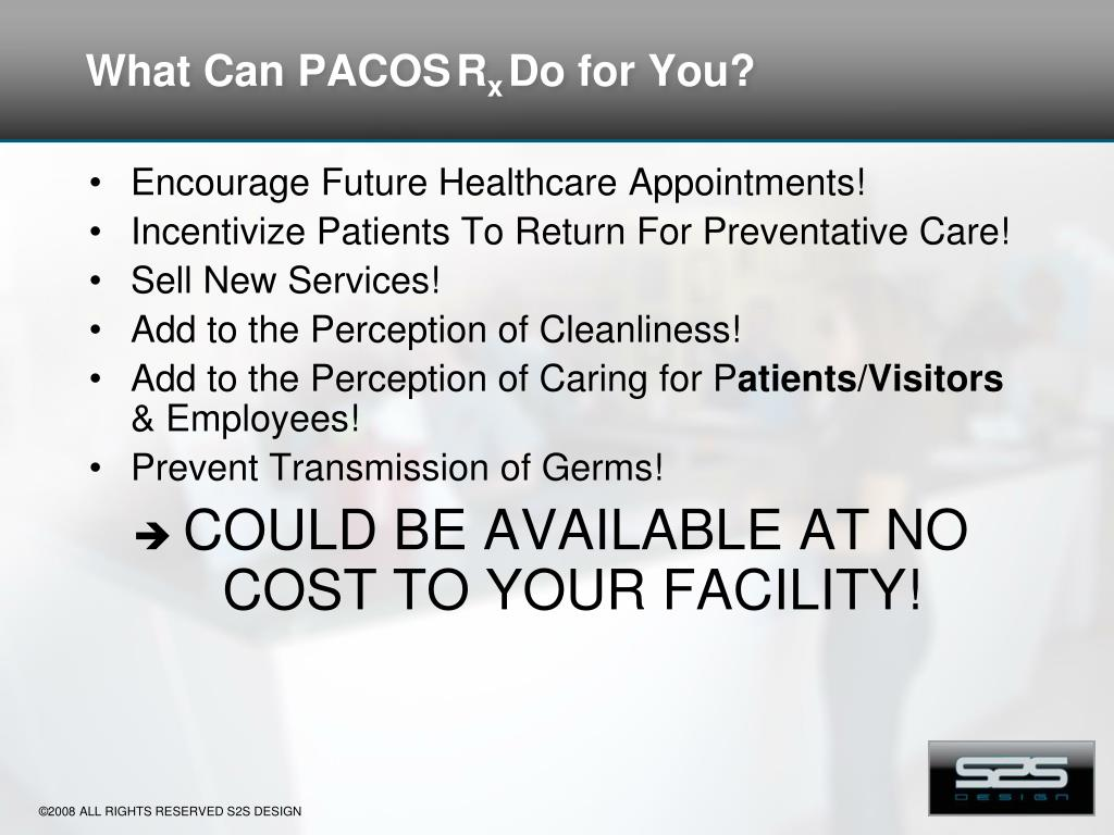What Can PACOS