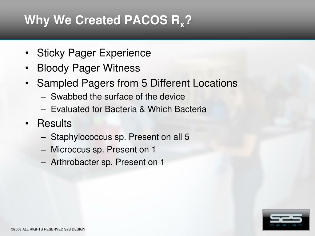 Why We Created PACOS R