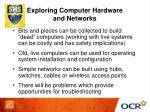 exploring computer hardware and networks
