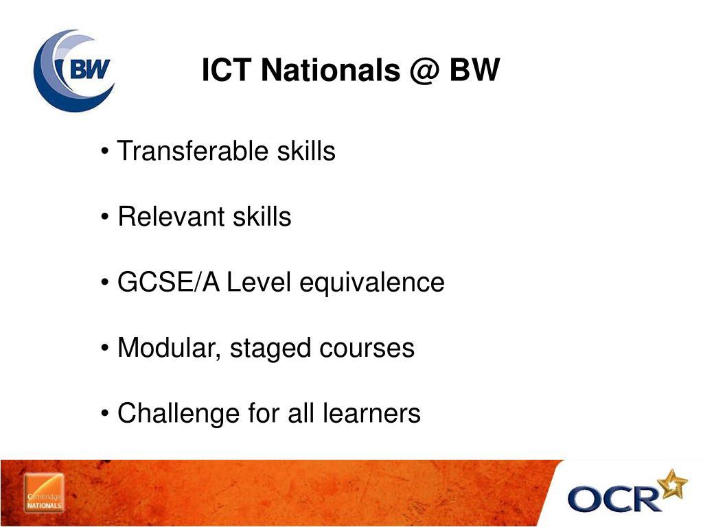 ICT Nationals @ BW