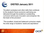 ofsted january 2011