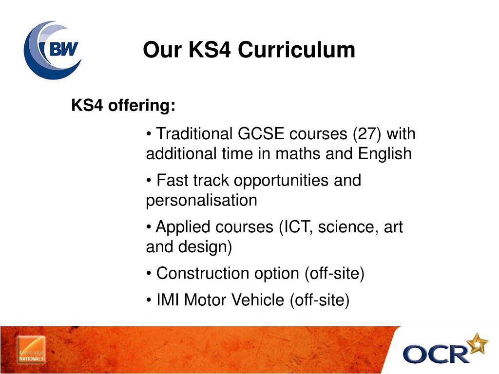 Our KS4 Curriculum