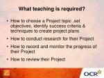 what teaching is required
