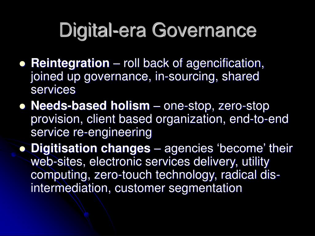 Digital-era Governance