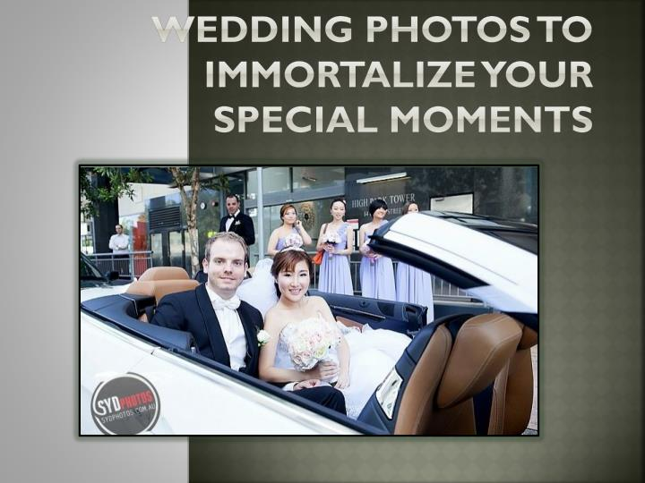 Wedding photos to immortalize your special moments