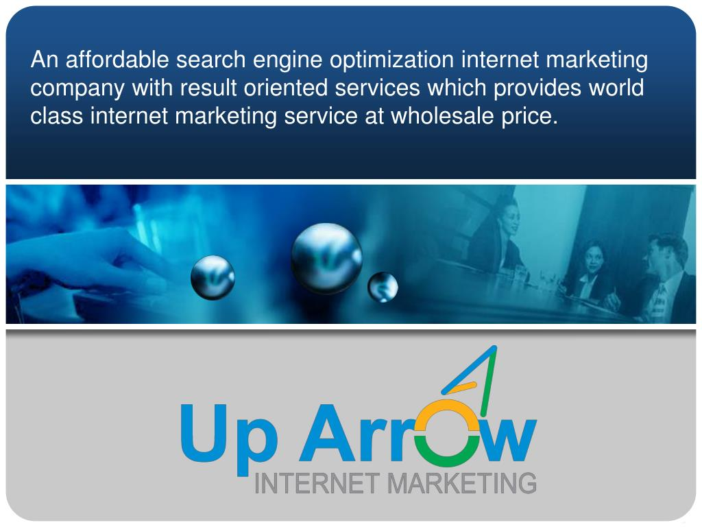 An affordable search engine optimization internet marketing company with result oriented services which provides world class internet marketing service at wholesale price.