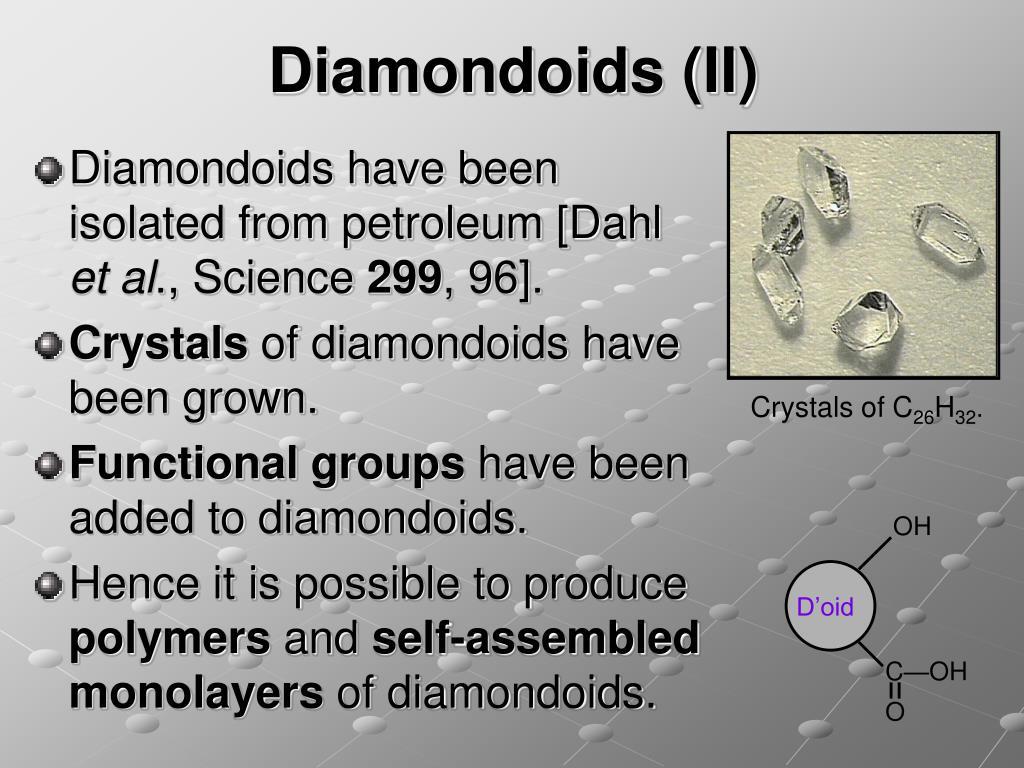 Diamondoids (II)