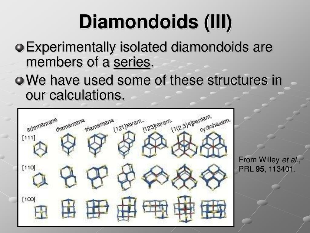Diamondoids (III)