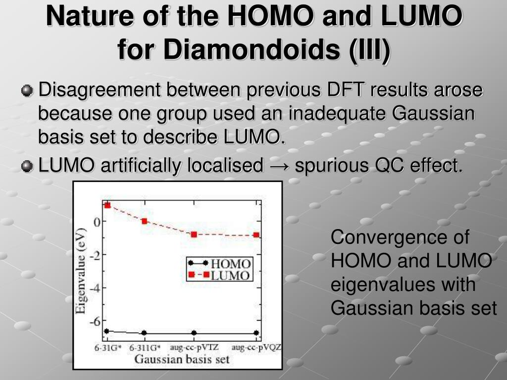 Nature of the HOMO and LUMO for Diamondoids (III)