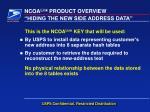 hiding the new side address data