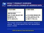 sample ncoa change of address data