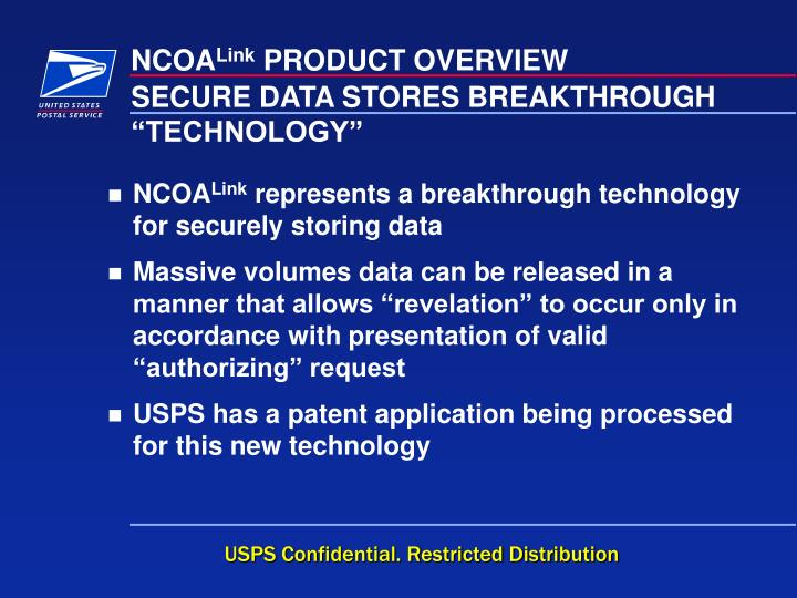 """SECURE DATA STORES BREAKTHROUGH """"TECHNOLOGY"""""""