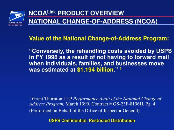 NATIONAL CHANGE-OF-ADDRESS (NCOA)