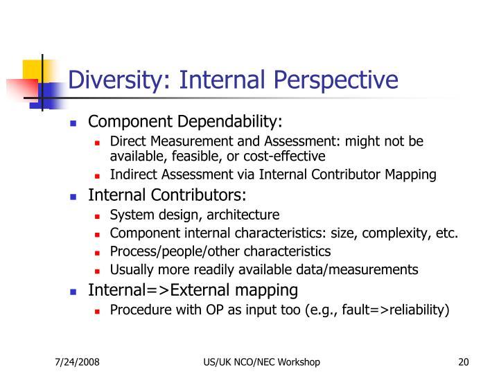Diversity: Internal Perspective