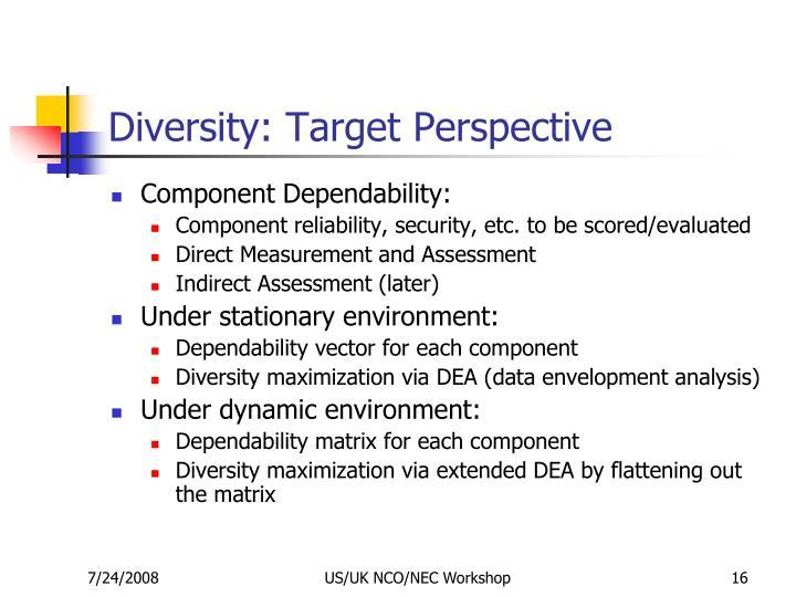 Diversity: Target Perspective