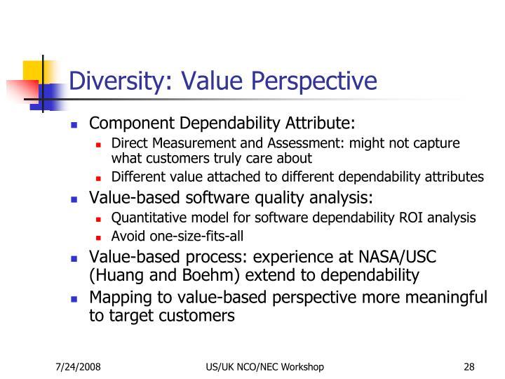 Diversity: Value Perspective