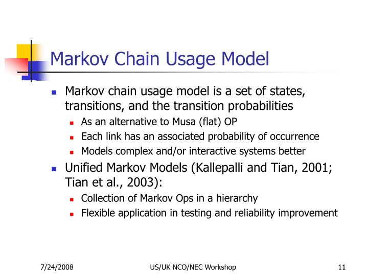 Markov Chain Usage Model