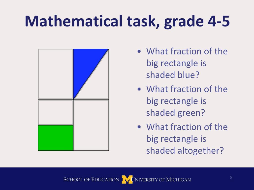 Mathematical task, grade 4-5