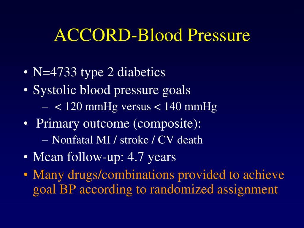 ACCORD-Blood Pressure