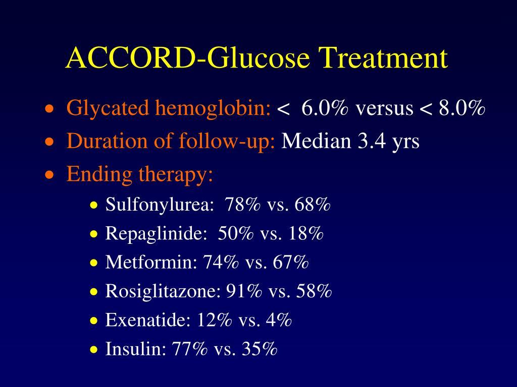 ACCORD-Glucose Treatment