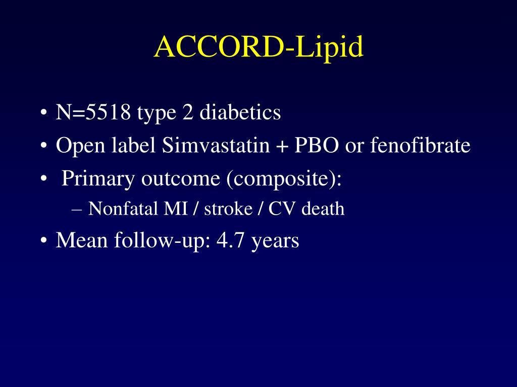 ACCORD-Lipid