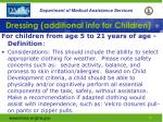 dressing additional info for children37